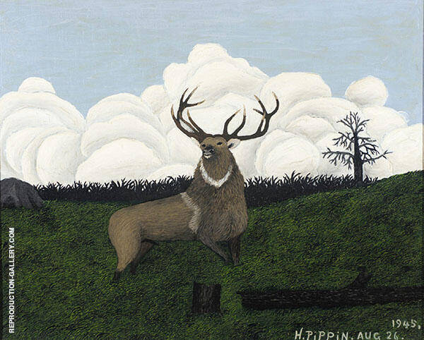 The Elk 1945 Painting By Horace Pippin - Reproduction Gallery