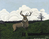 The Elk 1945 By Horace Pippin