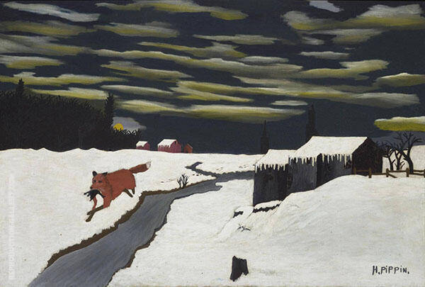 The Getaway 1939 Painting By Horace Pippin - Reproduction Gallery