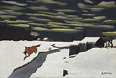The Getaway 1939 By Horace Pippin