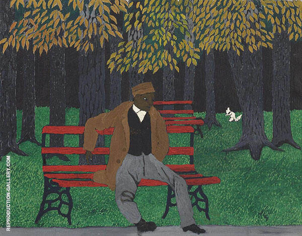 The Park Bench 1946 Painting By Horace Pippin - Reproduction Gallery