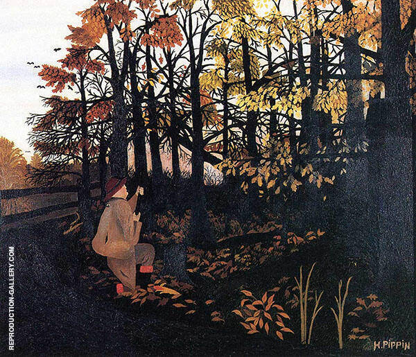 The Squirrel Hunter Painting By Horace Pippin - Reproduction Gallery