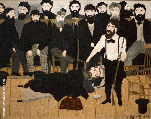 The Trial of John Brown 1942 Painting By Horace Pippin