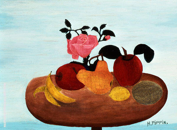 The Warped Table 1940 Painting By Horace Pippin - Reproduction Gallery