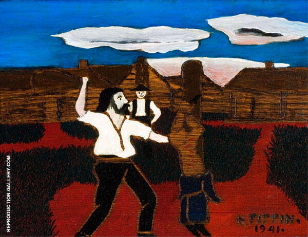 The Whipping Painting By Horace Pippin - Reproduction Gallery