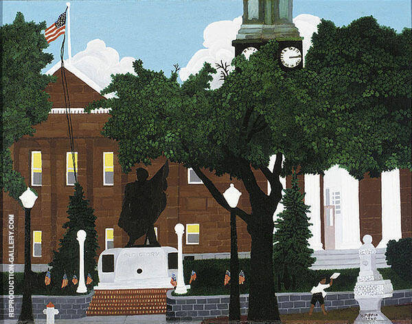 West Chester Court House 1940 Painting By Horace Pippin