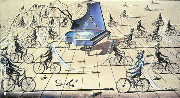 Sentimental Colloquy By Salvador Dali