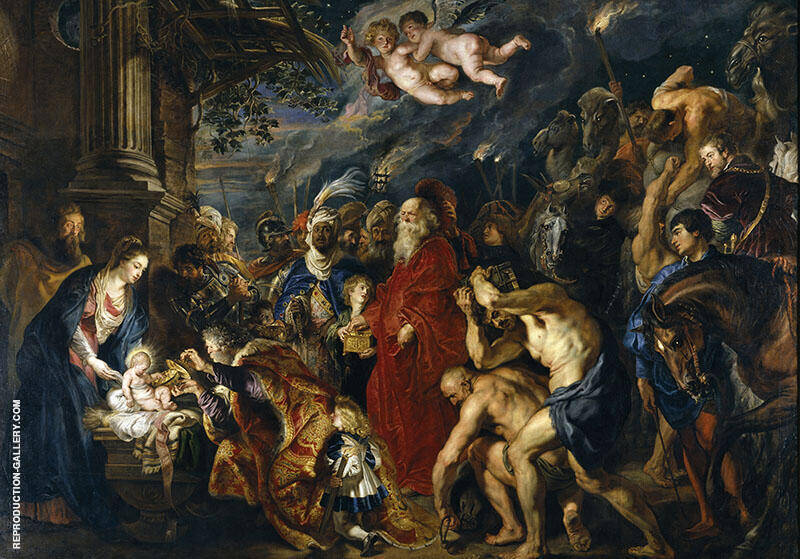 Adoration of the Magi c1628 Painting By Peter Paul Rubens