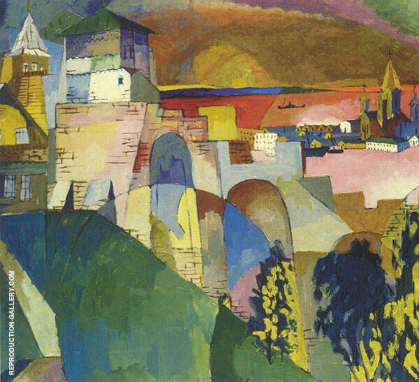 Nizhny Novgorod 1915 By Aristarkh Vasilyevich Lentulov