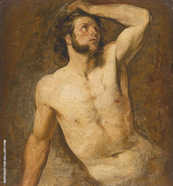 An Academy Studio of A Male Nude c1839 By William Etty
