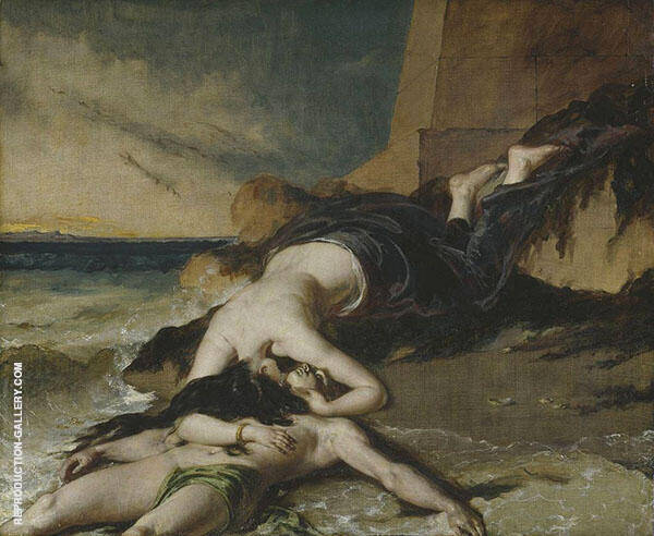 Hero and Leander 1829 By William Etty
