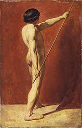 Male Nude with Staff 1814 By William Etty