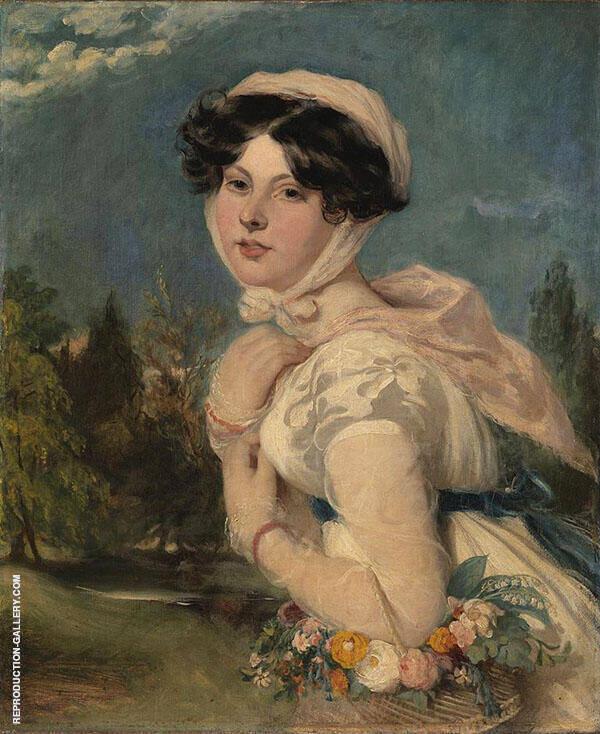 Miss Mary Arabella Jay 1819 By William Etty
