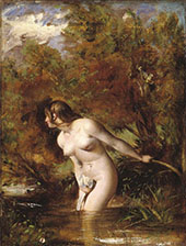 Musidora The Bather At The Doubtful Breeze Alarmed 1843 By William Etty