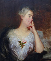 Portrait of a Lady with Rose By William Etty