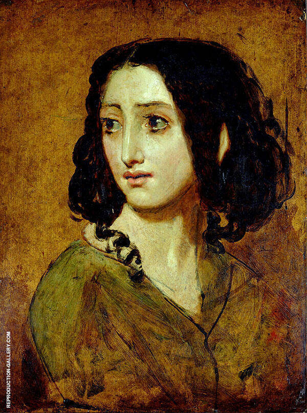 Portrait of Mlle Rachel c1841 By William Etty