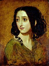 Portrait of Mlle Rachel c1841 By William Etty