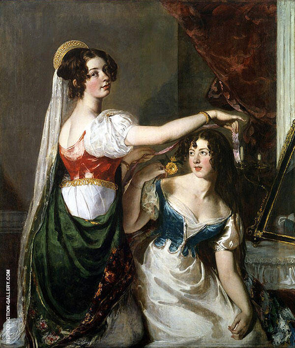 Preparing for a Fancy Dress Ball 1835 By William Etty