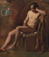 Somnolency Study of a Male Nude By William Etty