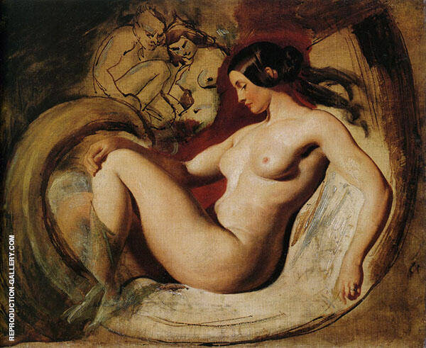 Study for Leda and The Swan c1840 By William Etty