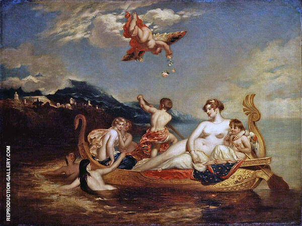The Coral Finder Venus and her Youthful Satellites 1820 By William Etty