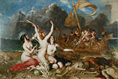 The Sirens and Ulysses 1837 By William Etty