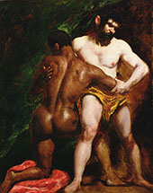 The Wrestlers c1840 By William Etty