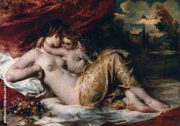 Venus and Cupid 1825 By William Etty