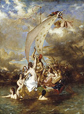Youth on The Prow and Pleasure at The Helm By William Etty