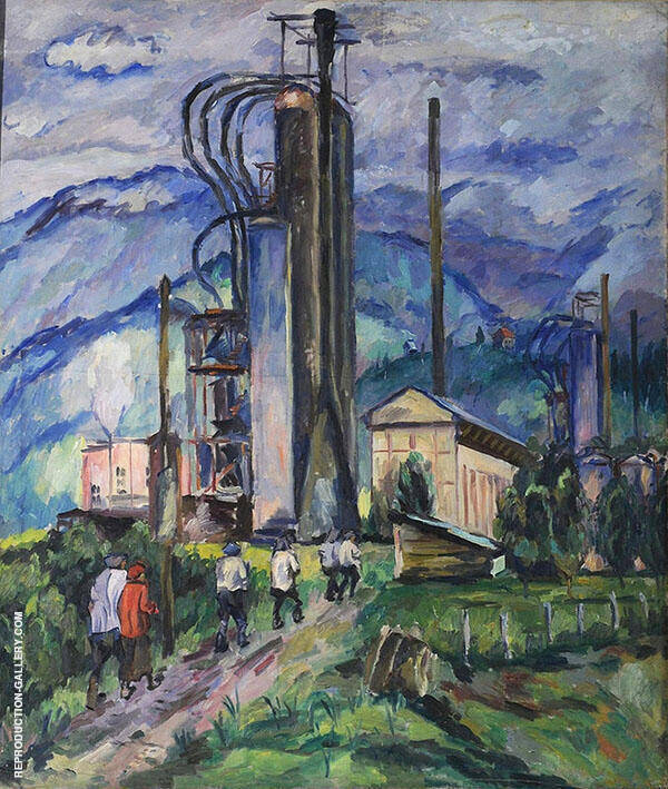An Oil Refinery By Aristarkh Vasilyevich Lentulov