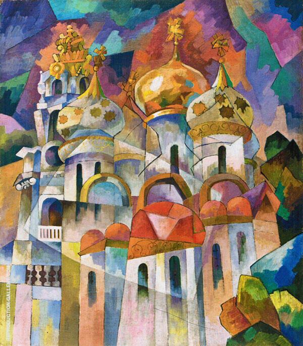 Assumption Cathedral Trinity Lavra of St Sergius 1916 By Aristarkh Vasilyevich Lentulov