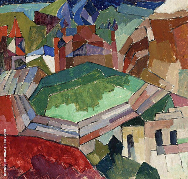A Town in South Russia Painting By Aristarkh Vasilyevich Lentulov