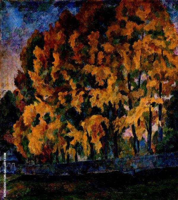 Autumn 1921 Painting By Aristarkh Vasilyevich Lentulov