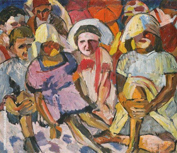 Children with Umbrellas By Aristarkh Vasilyevich Lentulov