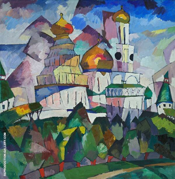 Churches New Jerusalem 1917 Painting By Aristarkh Vasilyevich Lentulov