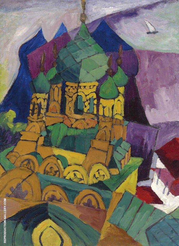 Church in Alupka 1916 By Aristarkh Vasilyevich Lentulov