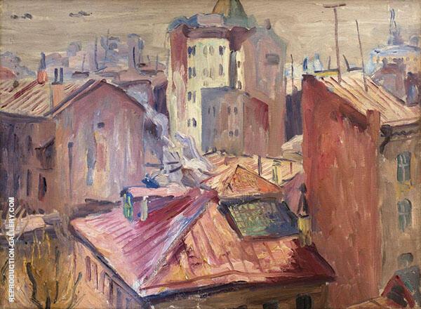 From The Workshop's Window 1930 Painting By Aristarkh Vasilyevich Lentulov