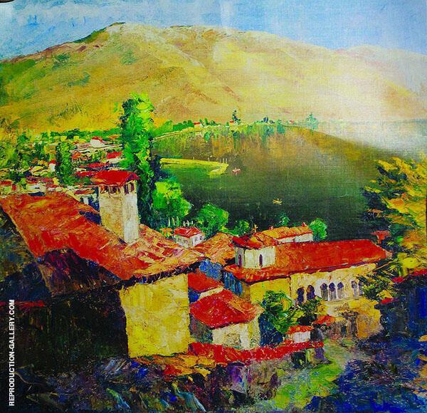 Landscape in Tuapse Painting By Aristarkh Vasilyevich Lentulov