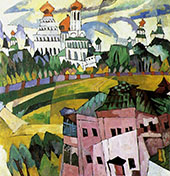 Landscape with Churches By Aristarkh Vasilyevich Lentulov