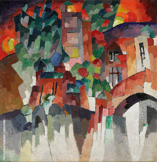 Landscape with Gates Kislovodsk 1913 Painting By ...