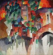 Landscape with Gates Kislovodsk 1913 By Aristarkh Vasilyevich Lentulov