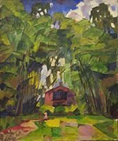Landscape with Red House 1910 By Aristarkh Vasilyevich Lentulov