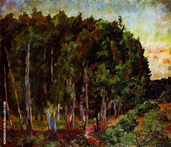 Landscape with Trees Painting By Aristarkh Vasilyevich Lentulov