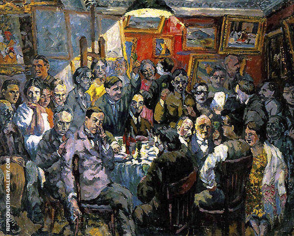 Moscow Artists 1927 By Aristarkh Vasilyevich Lentulov