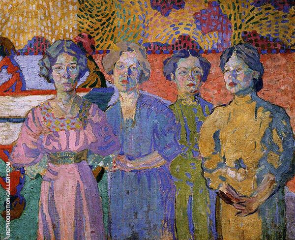 Portrait of Four 1906 Painting By Aristarkh Vasilyevich Lentulov