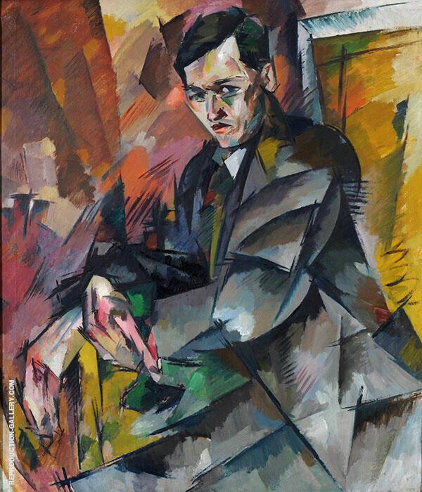 Portrait of I A Malyutin 1918 Painting By Aristarkh Vasilyevich Lentulov