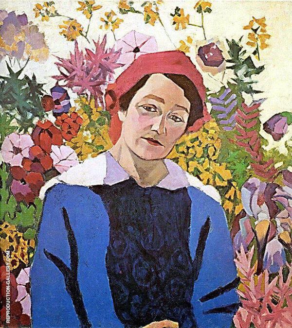 Portrait of M P Lentulova Painting By Aristarkh Vasilyevich Lentulov