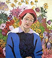 Portrait of M P Lentulova By Aristarkh Vasilyevich Lentulov