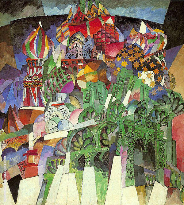 Saint Basil's Cathedral 1913 Painting By Aristarkh Vasilyevich Lentulov