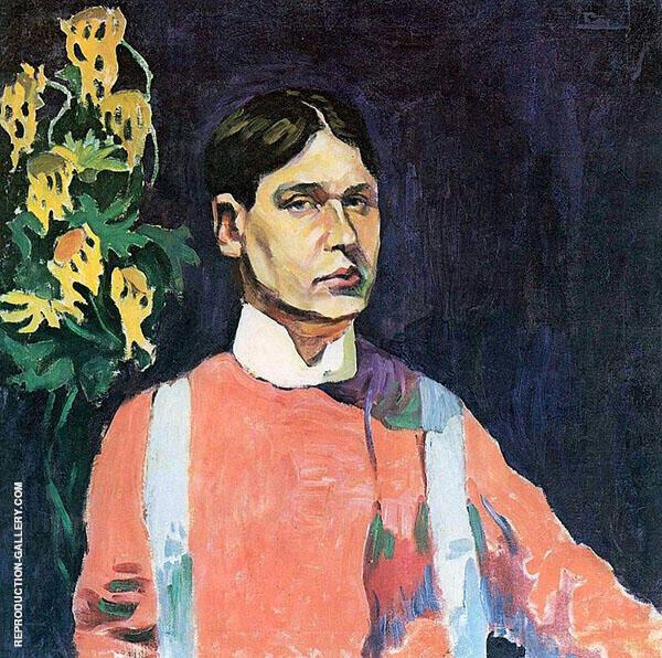Self Portrait 1913 Painting By Aristarkh Vasilyevich Lentulov